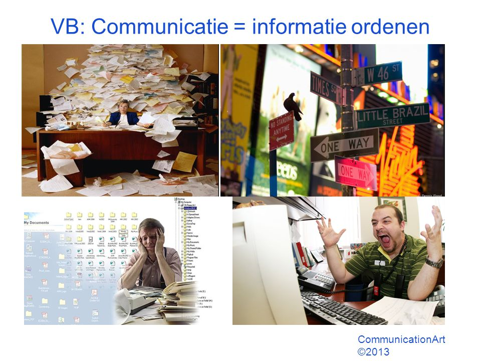 VB: Communicatie = informatie ordenen