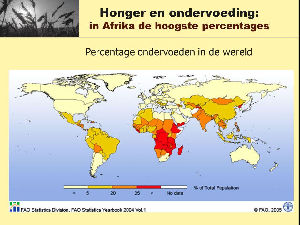 Honger en ondervoeding: in Afrika de hoogste percentages