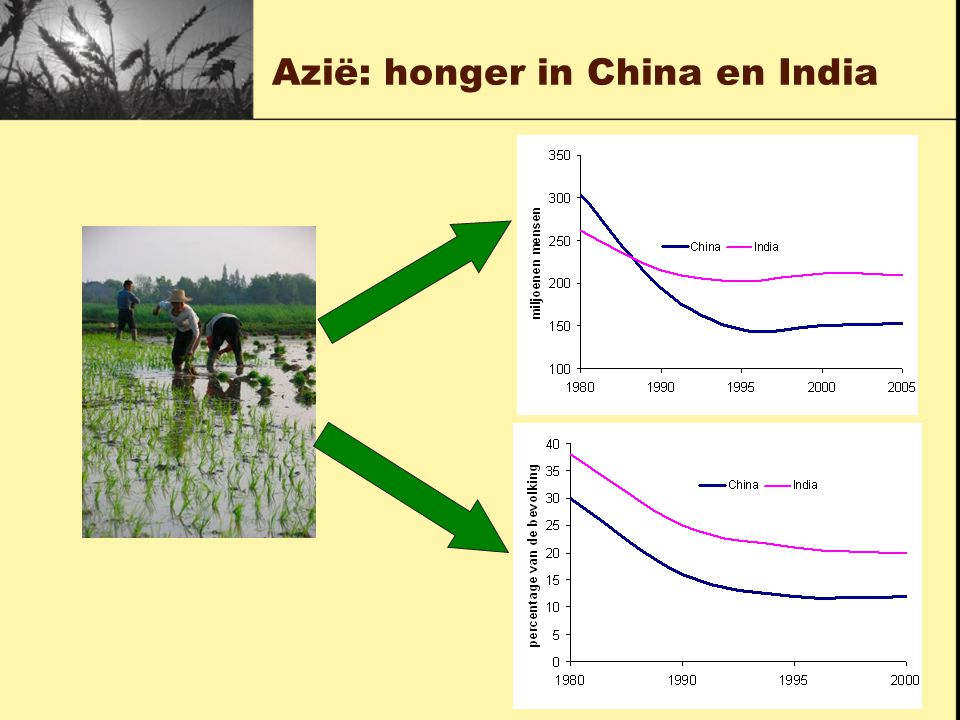 Azië: honger in China en India