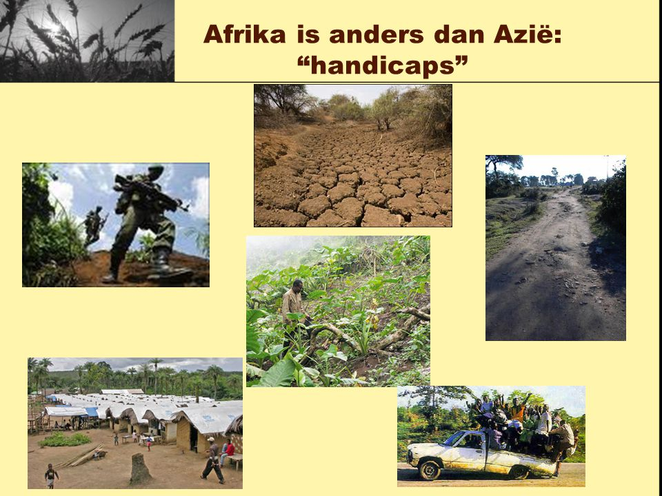 Afrika is anders dan Azië: handicaps