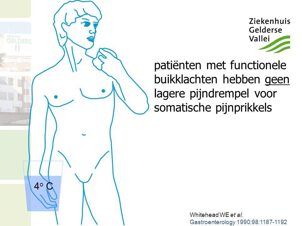 patiënten met functionele buikklachten hebben geen lagere pijndrempel voor somatische pijnprikkels