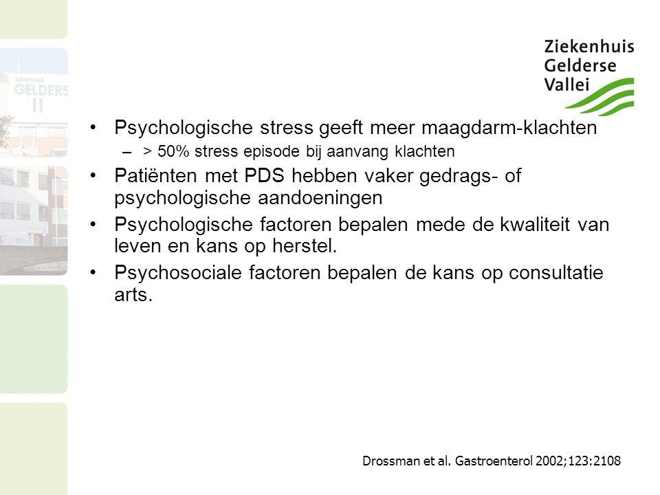 Psychologische stress geeft meer maagdarm-klachten