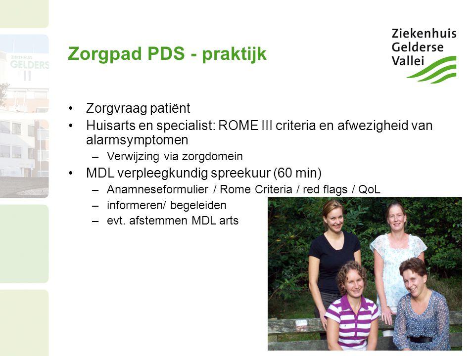 Zorgpad PDS - praktijk Zorgvraag patiënt
