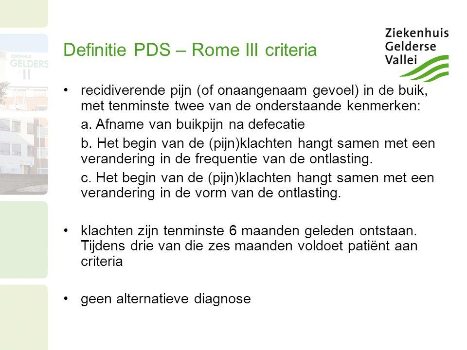 Definitie PDS – Rome III criteria