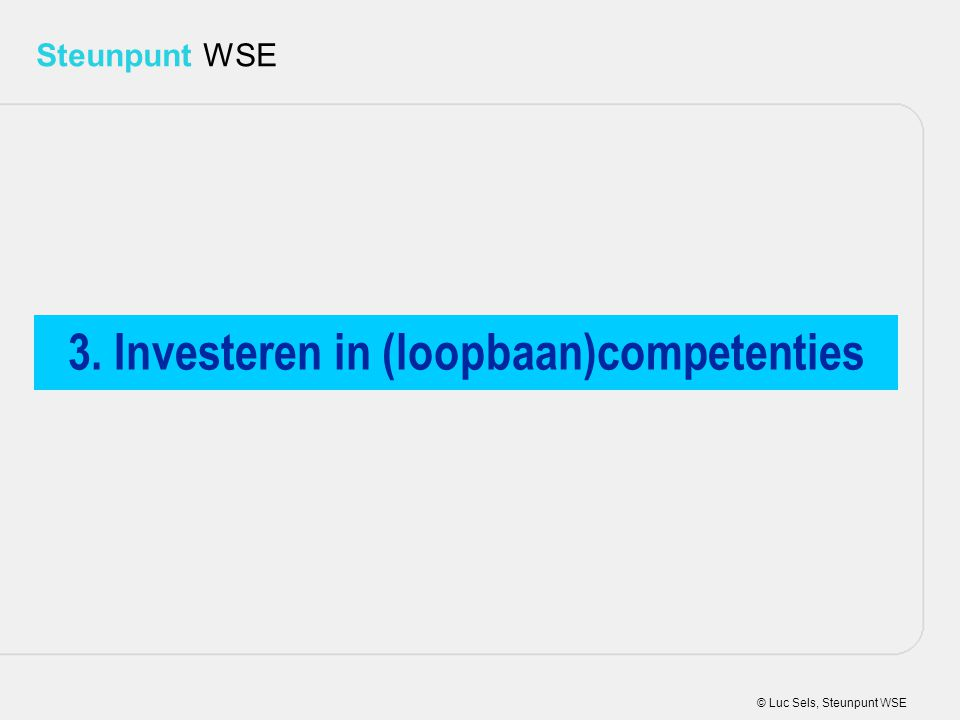 3. Investeren in (loopbaan)competenties