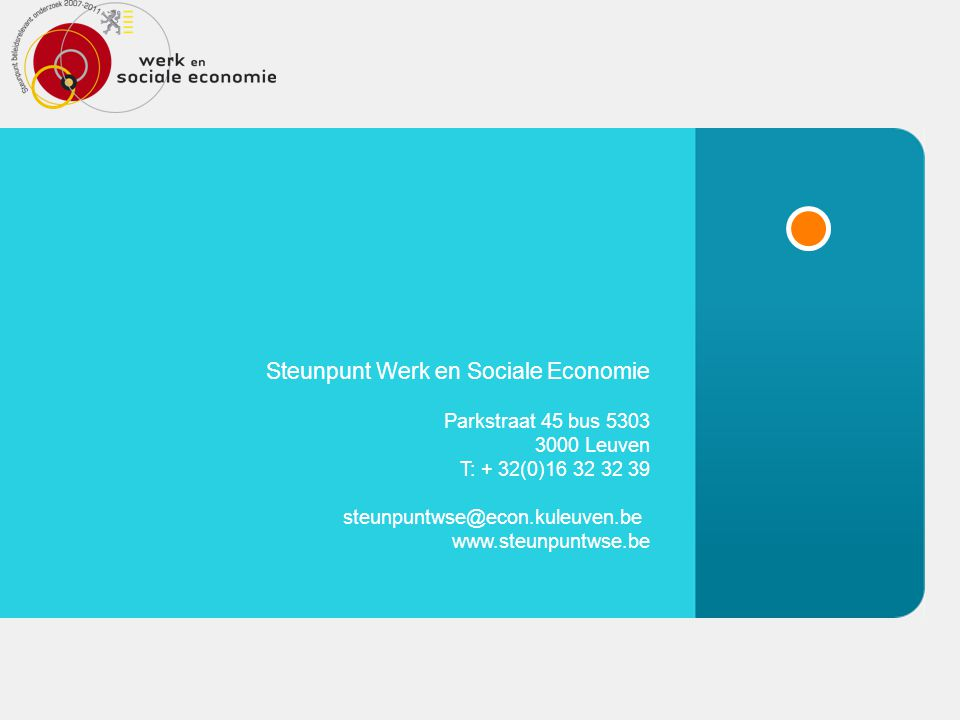 Steunpunt Werk en Sociale Economie
