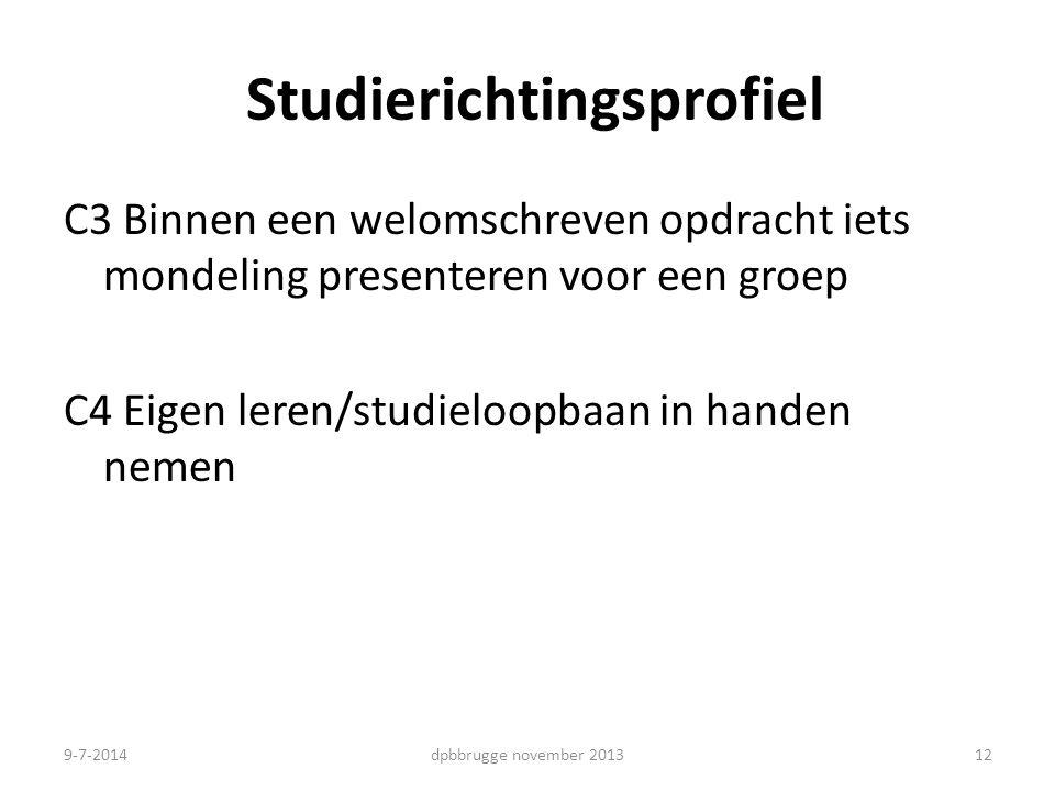 Studierichtingsprofiel