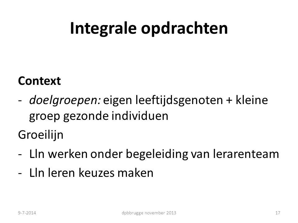 Integrale opdrachten Context