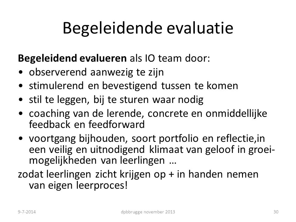 Begeleidende evaluatie
