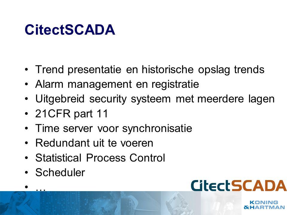 CitectSCADA Trend presentatie en historische opslag trends
