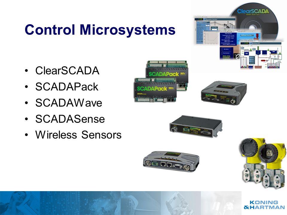 Control Microsystems ClearSCADA SCADAPack SCADAWave SCADASense