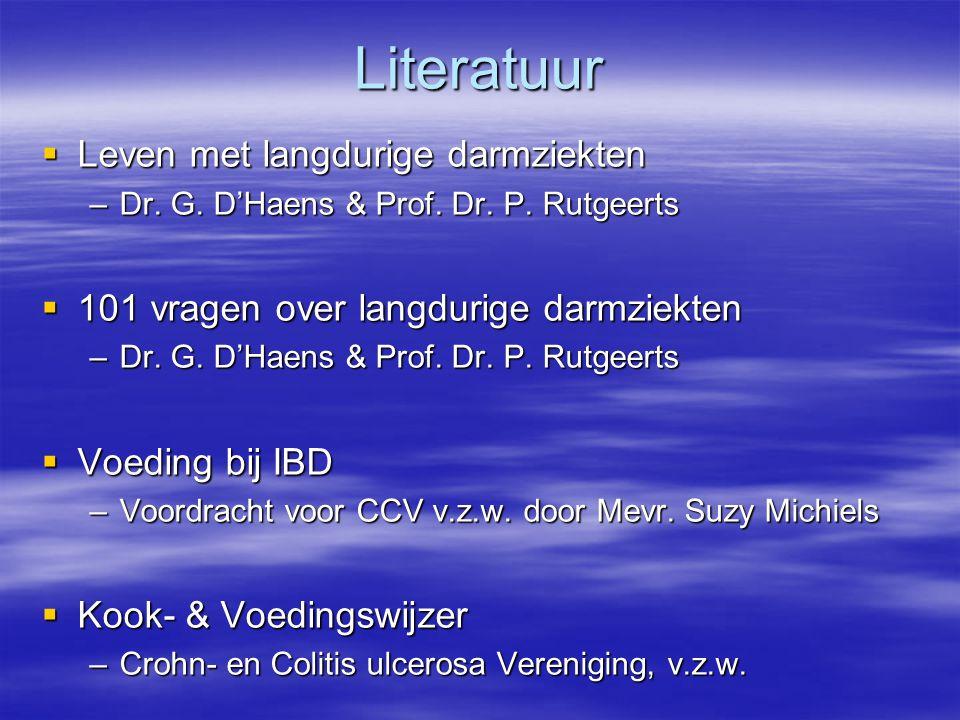 Literatuur Leven met langdurige darmziekten