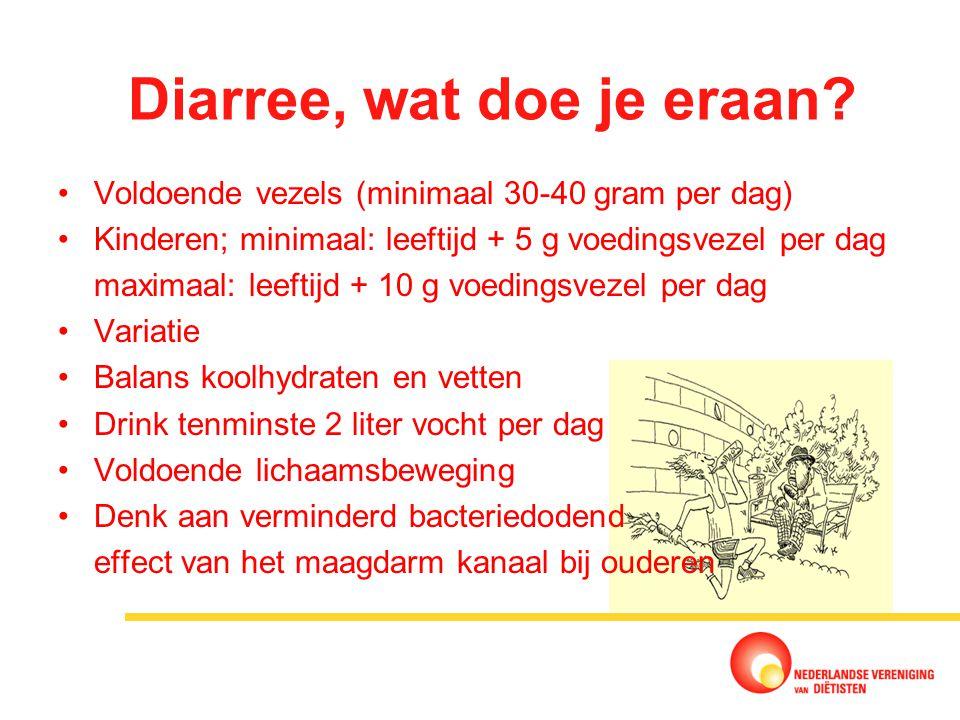 Diarree, wat doe je eraan