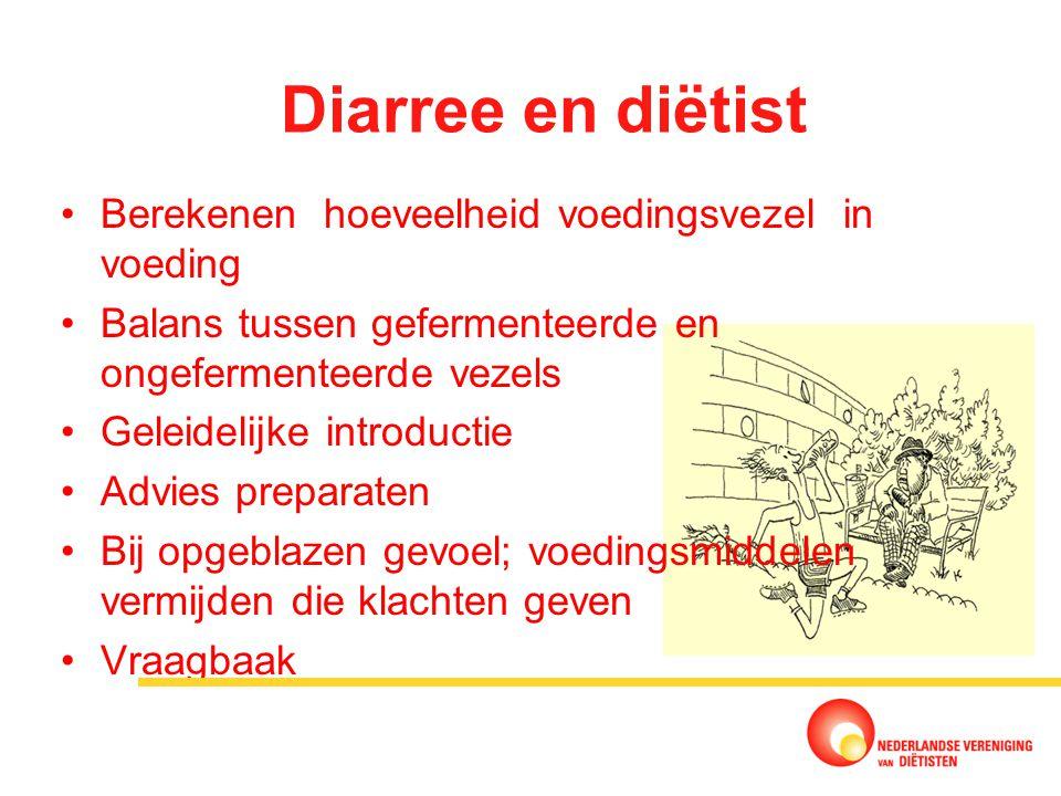 Diarree en diëtist Berekenen hoeveelheid voedingsvezel in voeding