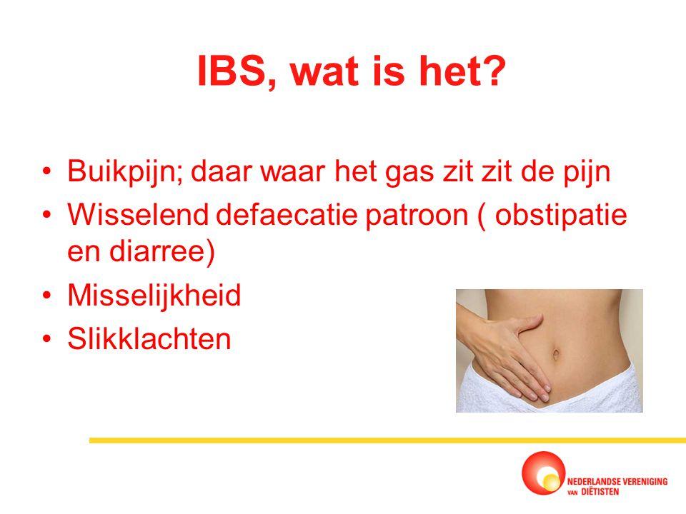 IBS, wat is het Buikpijn; daar waar het gas zit zit de pijn