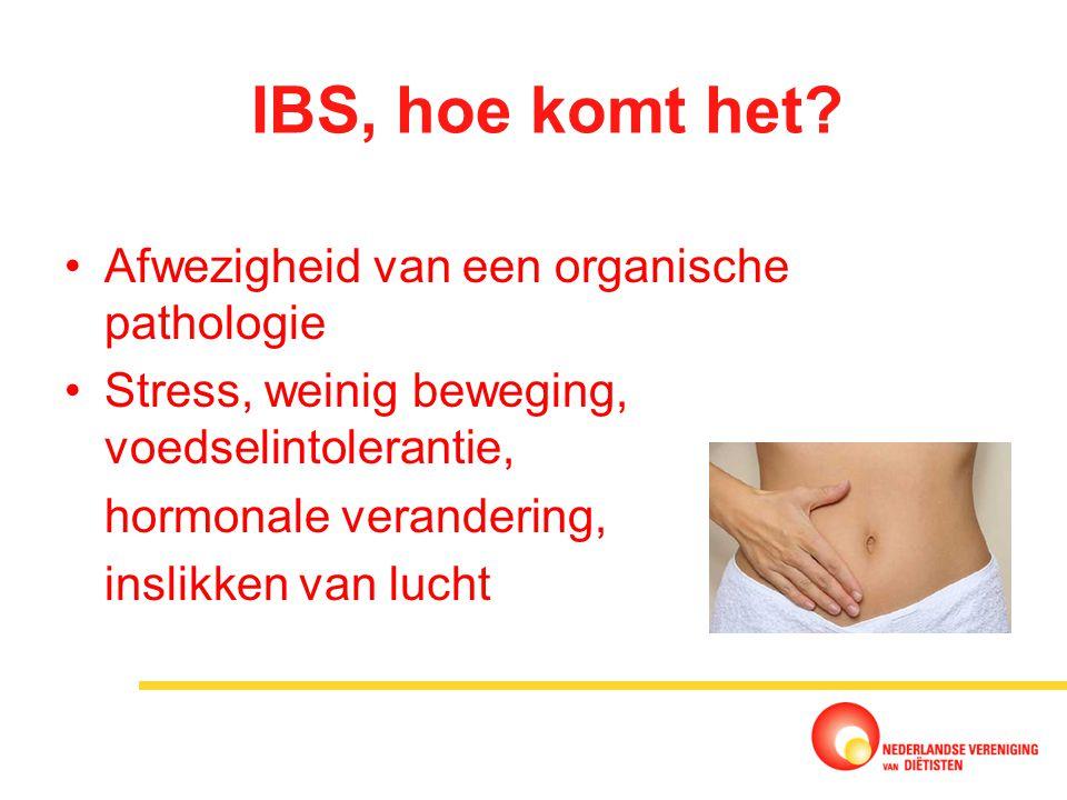 IBS, hoe komt het Afwezigheid van een organische pathologie