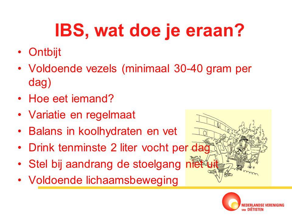IBS, wat doe je eraan Ontbijt