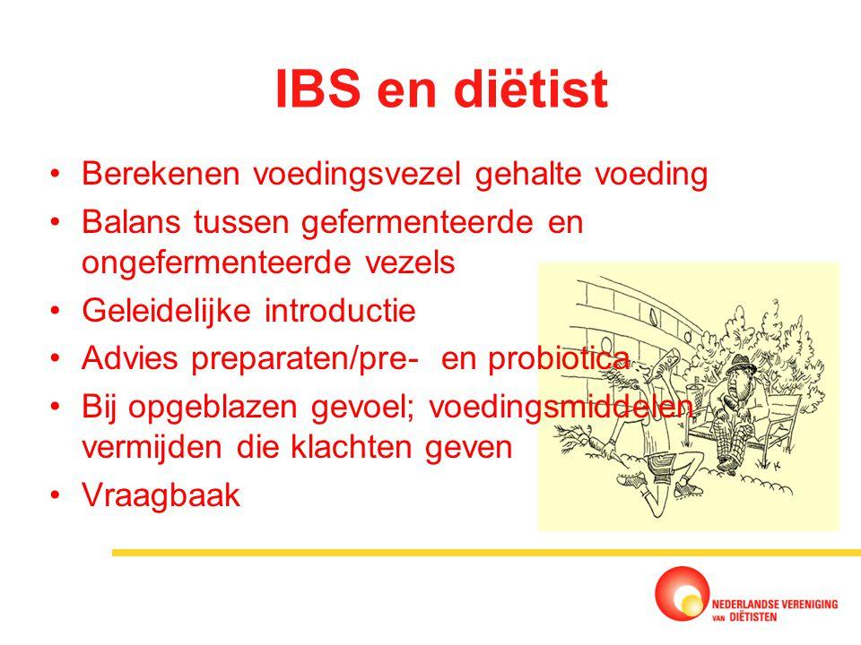 IBS en diëtist Berekenen voedingsvezel gehalte voeding