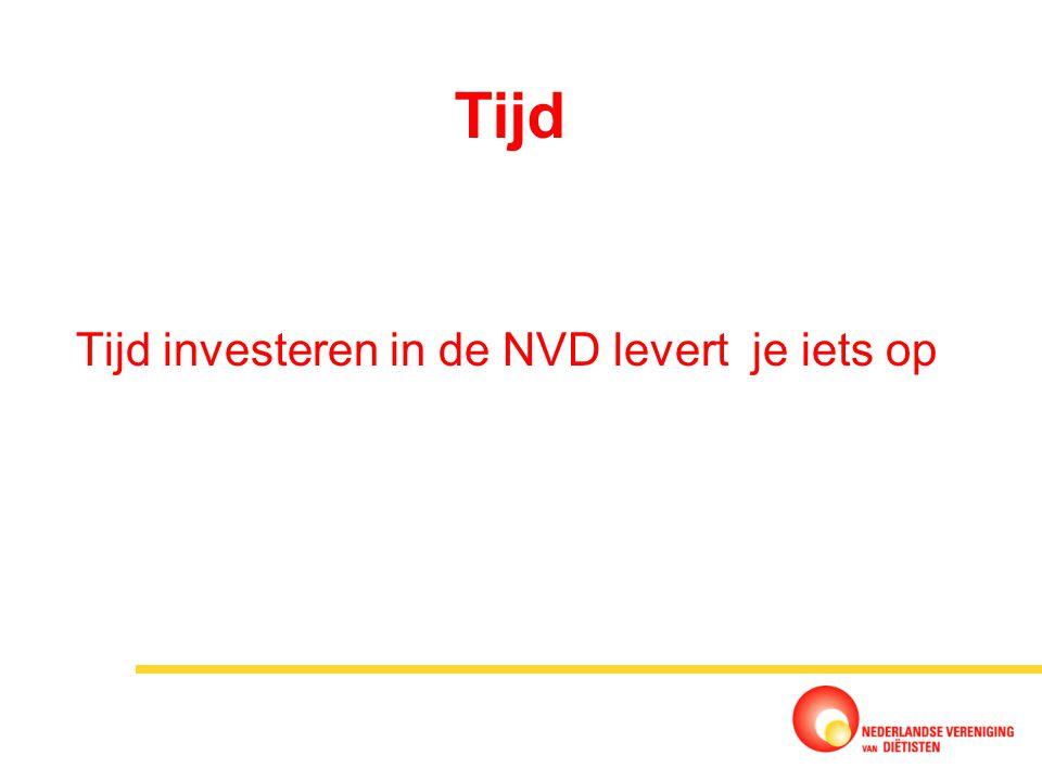 Tijd Tijd investeren in de NVD levert je iets op
