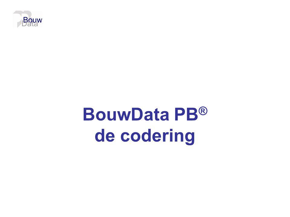 BouwData PB® de codering