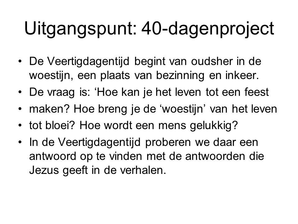 Uitgangspunt: 40-dagenproject