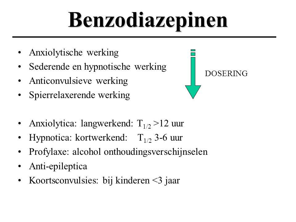 Benzodiazepinen Anxiolytische werking Sederende en hypnotische werking