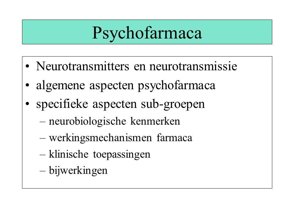 Psychofarmaca Neurotransmitters en neurotransmissie