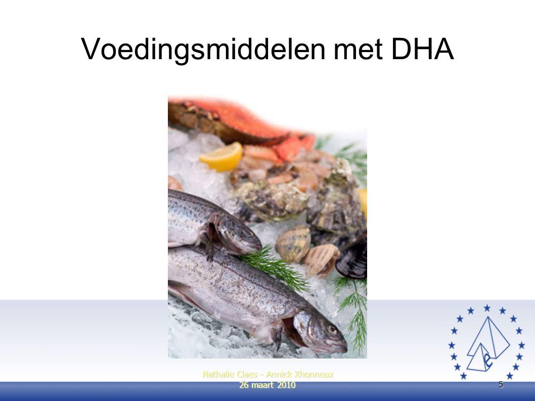 Voedingsmiddelen met DHA