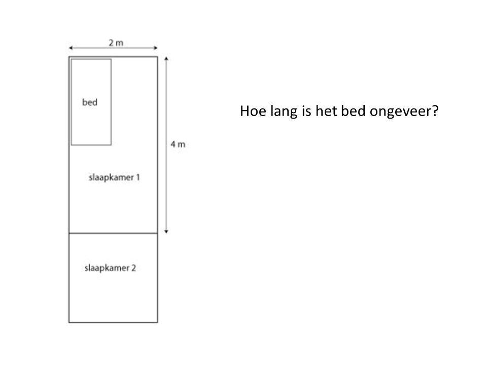 Hoe lang is het bed ongeveer