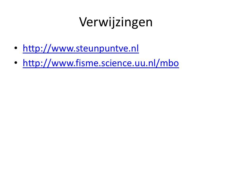 Verwijzingen http://www.steunpuntve.nl