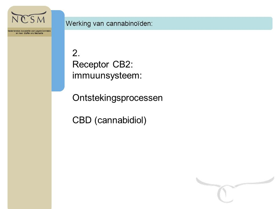 Ontstekingsprocessen CBD (cannabidiol)