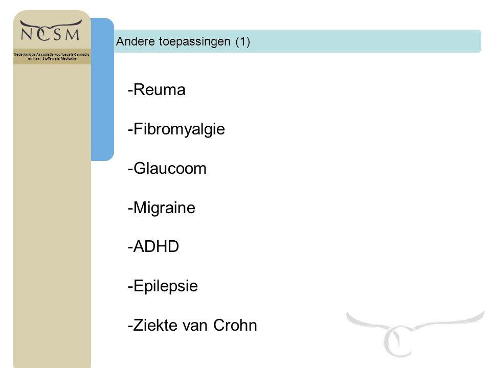 -Reuma -Fibromyalgie -Glaucoom -Migraine -ADHD -Epilepsie