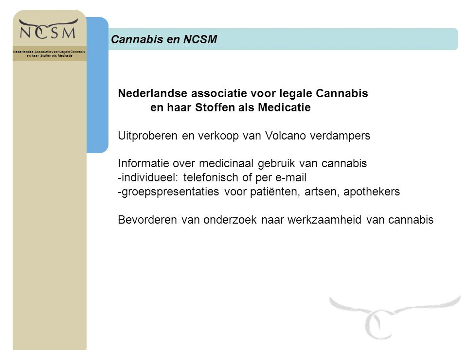 Nederlandse associatie voor legale Cannabis