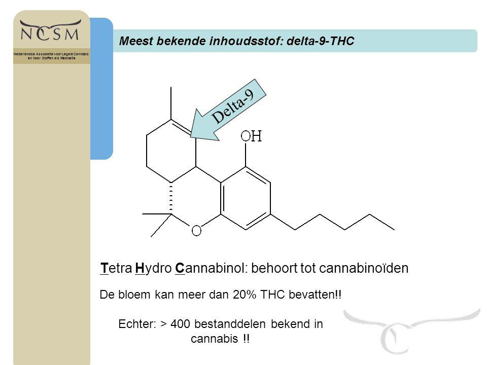 Delta-9 Tetra Hydro Cannabinol: behoort tot cannabinoïden