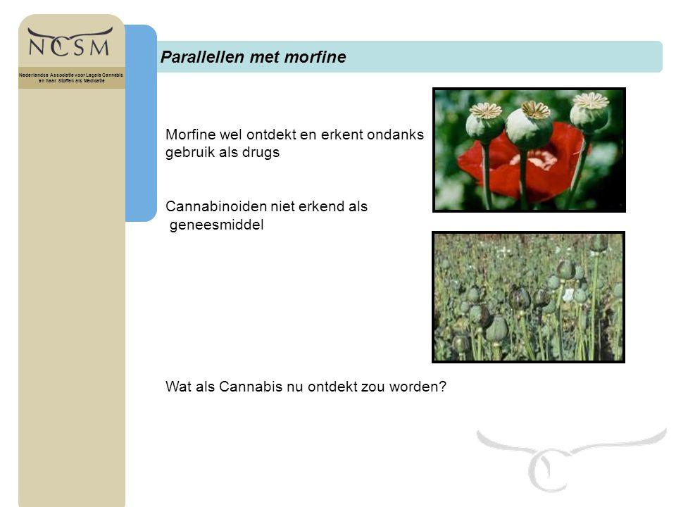 Parallellen met morfine