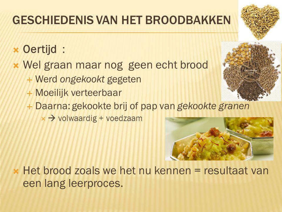 Geschiedenis van het broodbakken