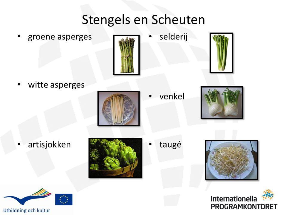 Stengels en Scheuten groene asperges witte asperges artisjokken