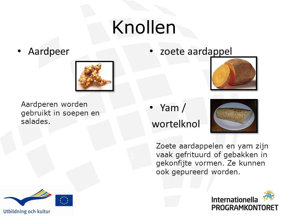 Knollen Aardpeer zoete aardappel Yam / wortelknol 1
