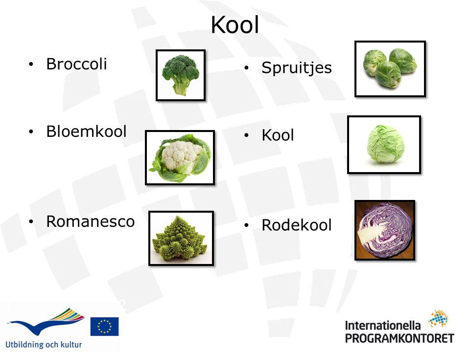 Kool Broccoli. Bloemkool. Romanesco. Spruitjes. Kool. Rodekool.