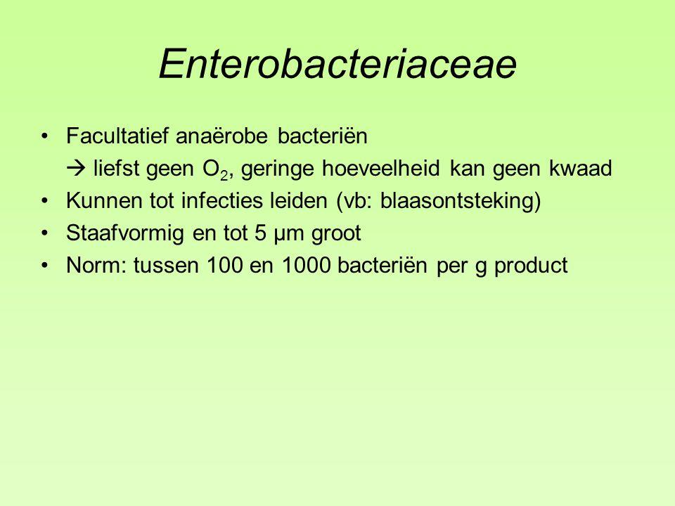 Enterobacteriaceae Facultatief anaërobe bacteriën