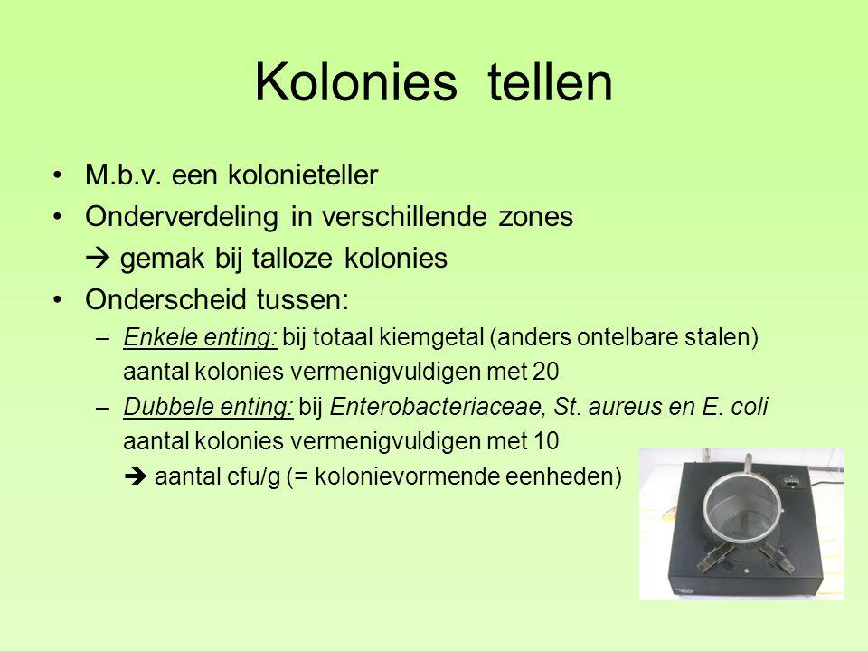 Kolonies tellen M.b.v. een kolonieteller