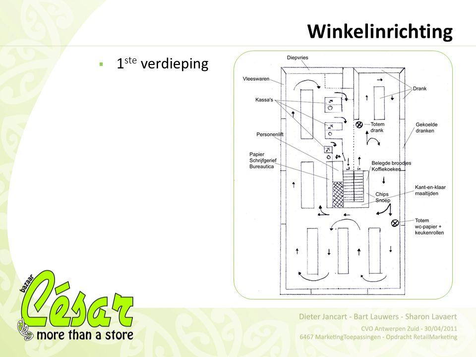 Winkelinrichting 1ste verdieping