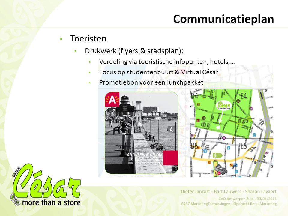 Communicatieplan Toeristen Drukwerk (flyers & stadsplan):