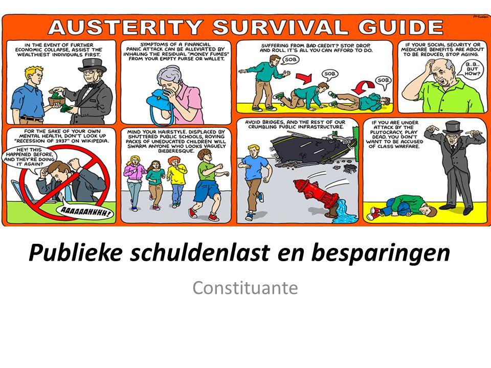 Publieke schuldenlast en besparingen