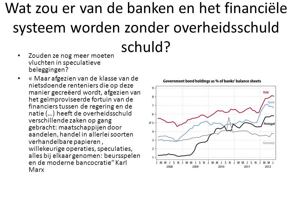 Wat zou er van de banken en het financiële systeem worden zonder overheidsschuld schuld