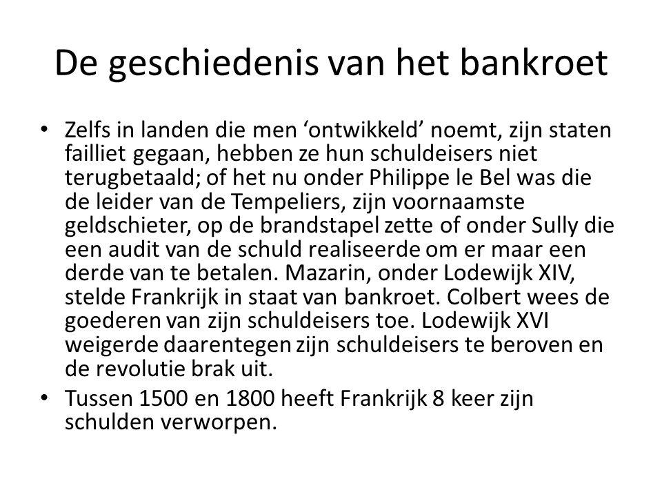 De geschiedenis van het bankroet
