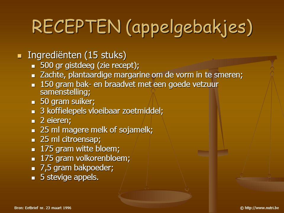 RECEPTEN (appelgebakjes)