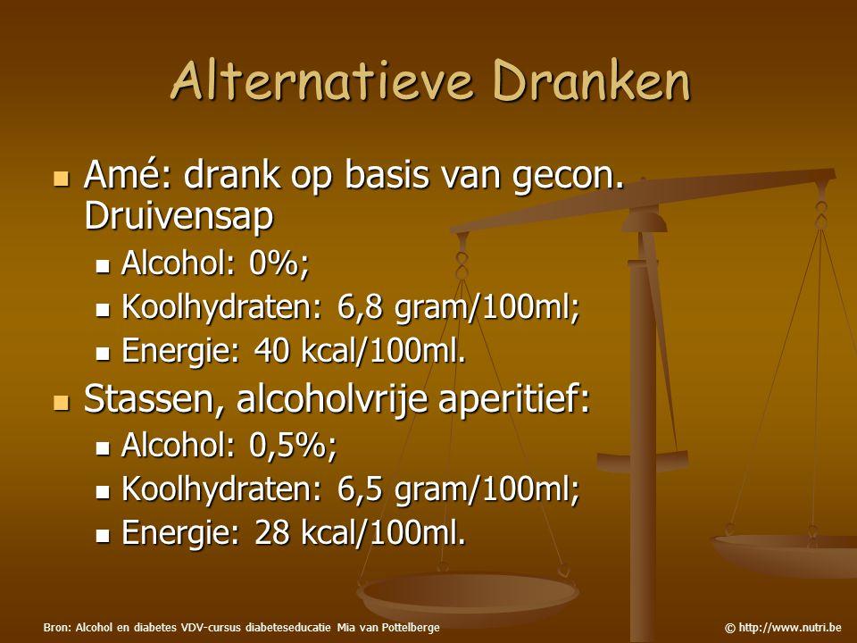 Alternatieve Dranken Amé: drank op basis van gecon. Druivensap