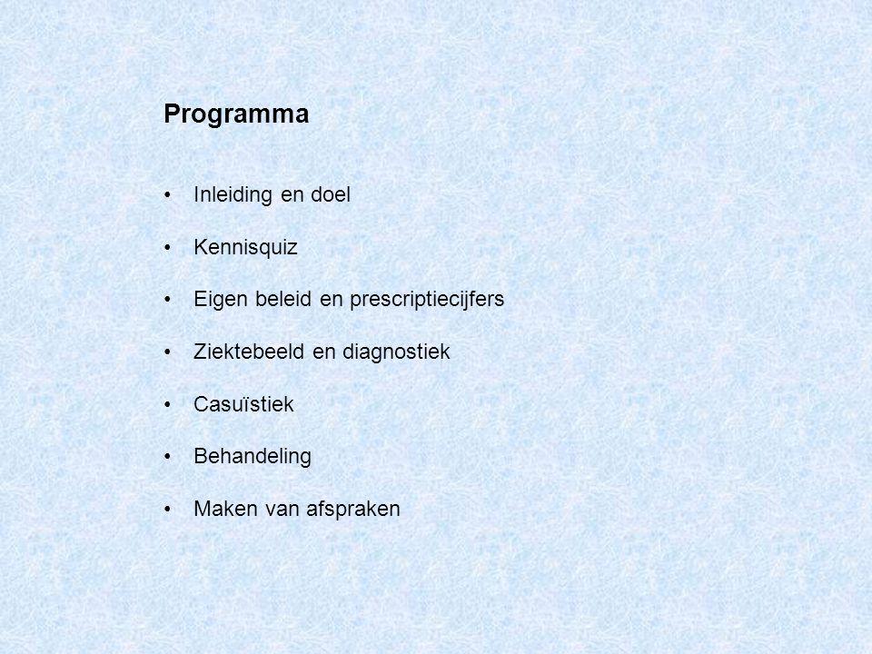 Programma Inleiding en doel Kennisquiz