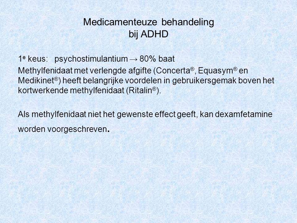 Medicamenteuze behandeling bij ADHD